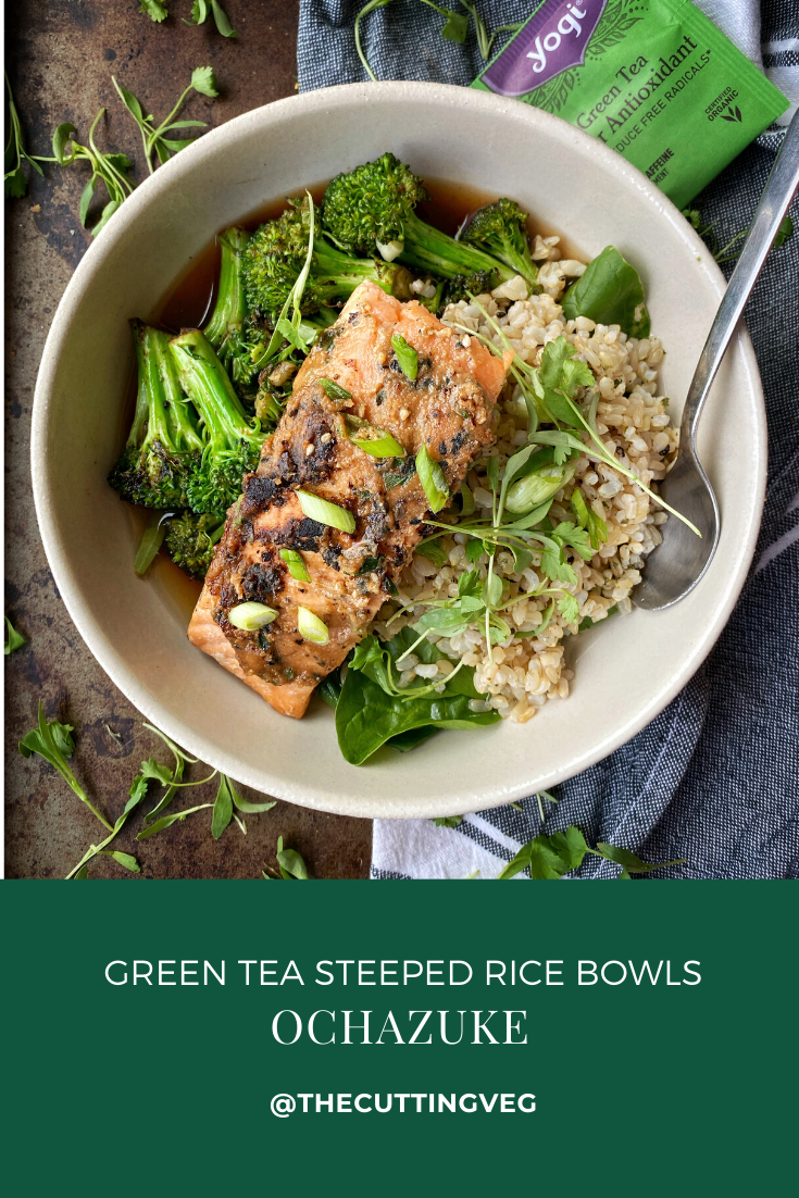 A hack that will make your stale rice come back to life: Ochazuke or green tea rice. A traditional Japanese dish, it is so easy to prepare (we're talking less than 5 minutes, but comes packed full of flavor! #thecuttingveg #eatrealfood #leftovers #rice
